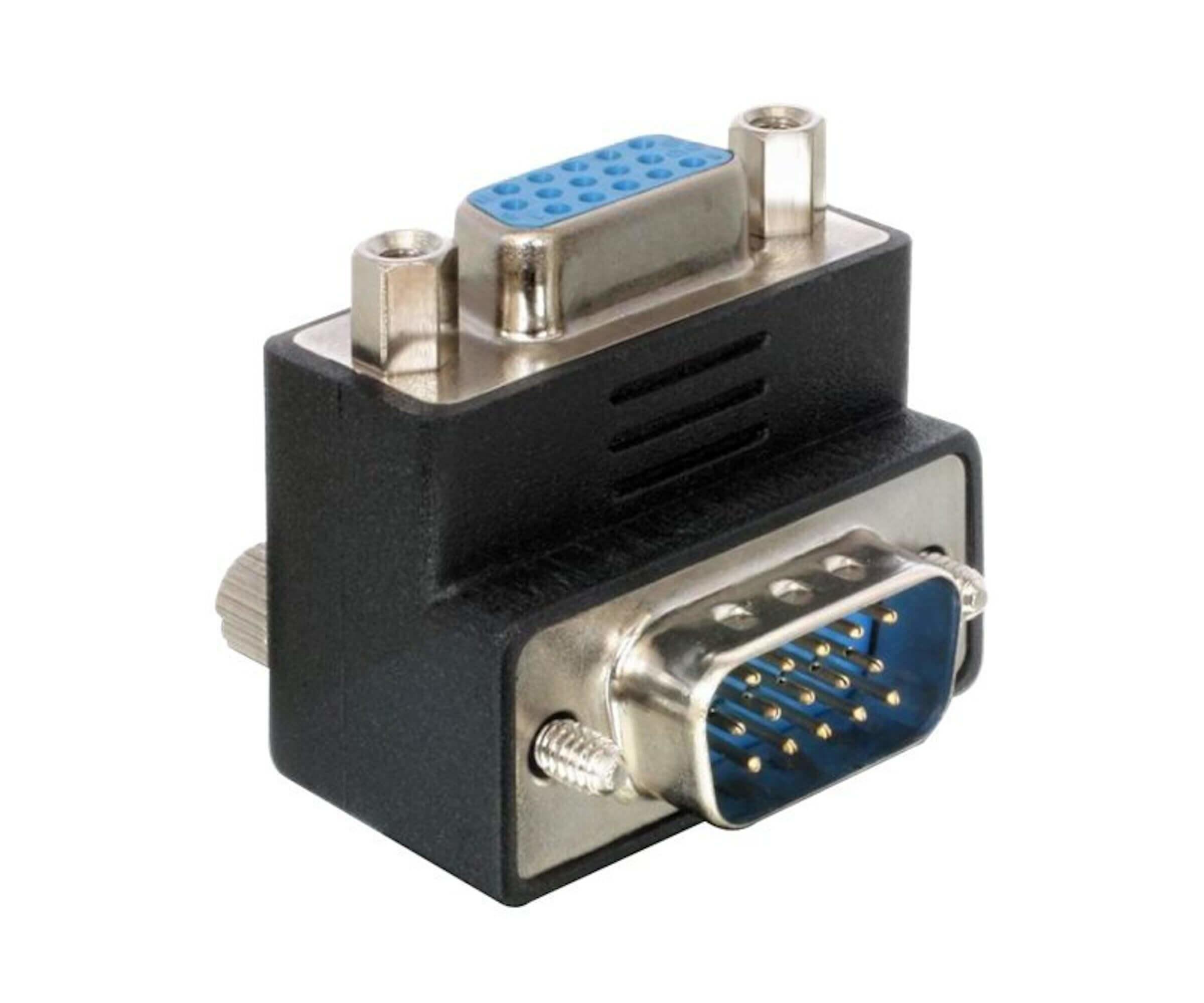 Adapter VGA Stecker/Buchse 90° gewinkelt