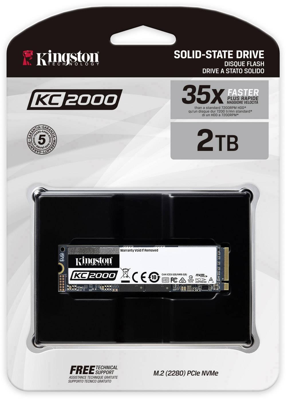 Kingston KC2000 2 TB, SSD NVMe PCIe 3.0 x4 M.2 2280