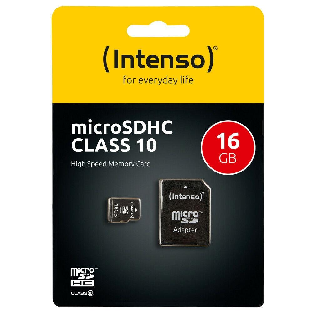 Intenso Micro SD Speicherkarte - Speicherkapazität: 16 GB / Class 10