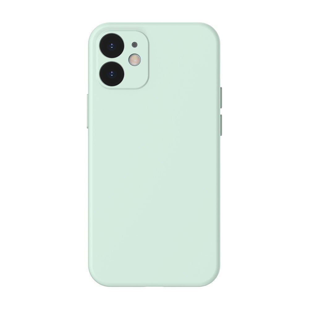 Baseus Liquid Silica Gel Case Flexibler handyhülle iPhone 12 minzgrün