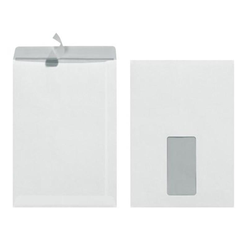 25 Herlitz Versandtaschen C5 haftklebend Weiß mit Fenster