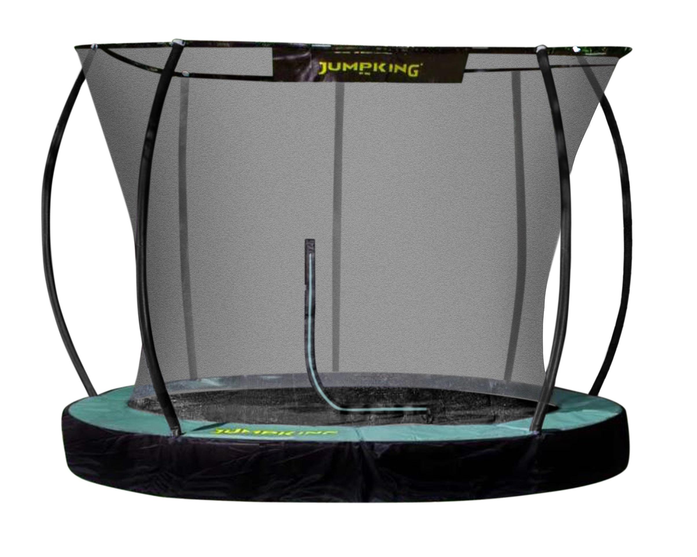 Jumpking trampolin 3InGround Deluxe,05 Meter schwarz/grün