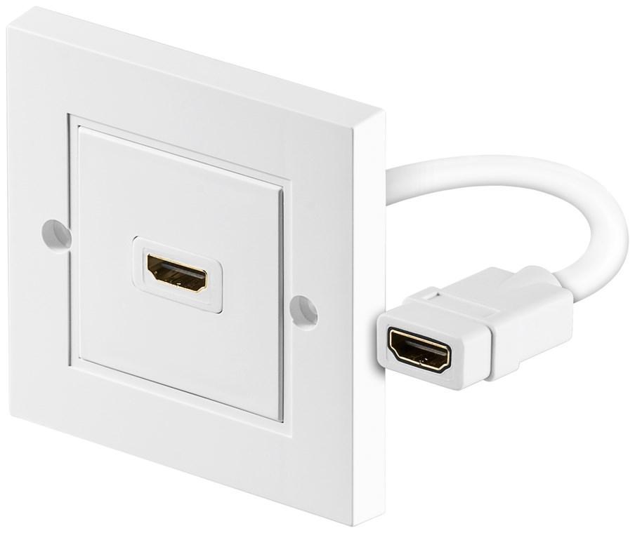 HDMI™ Wanddose HDMI™-Buchse (Typ A) > HDMI™-Buchse (Typ A)