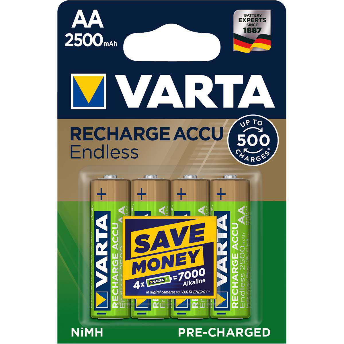 Varta Accu Endless, Pre-charged, Retail Blister (4-Pack)