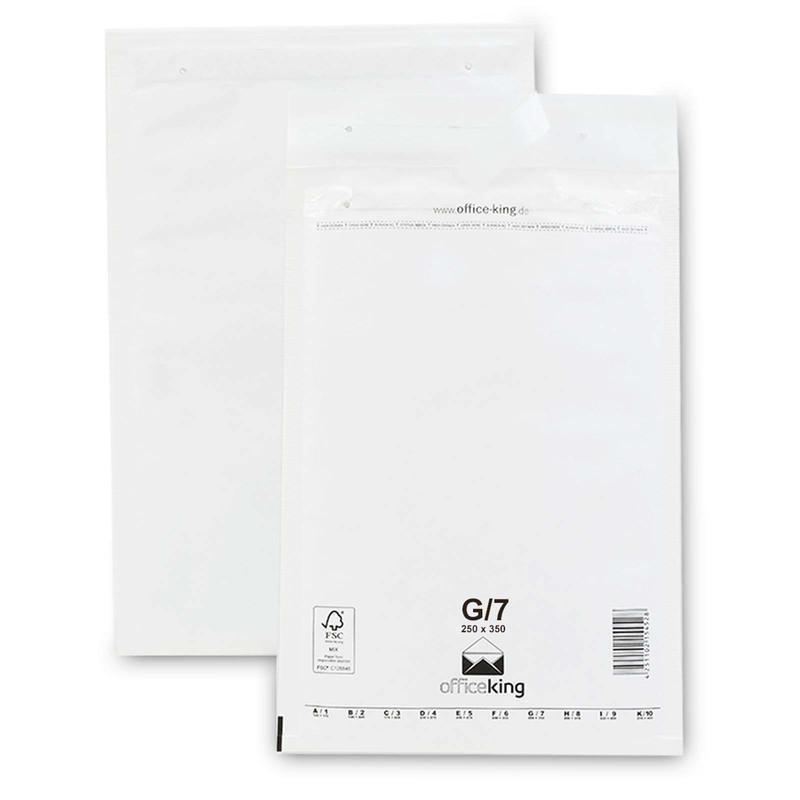 100 G7 Luftpolstertaschen Weiss 250 x 350 mm