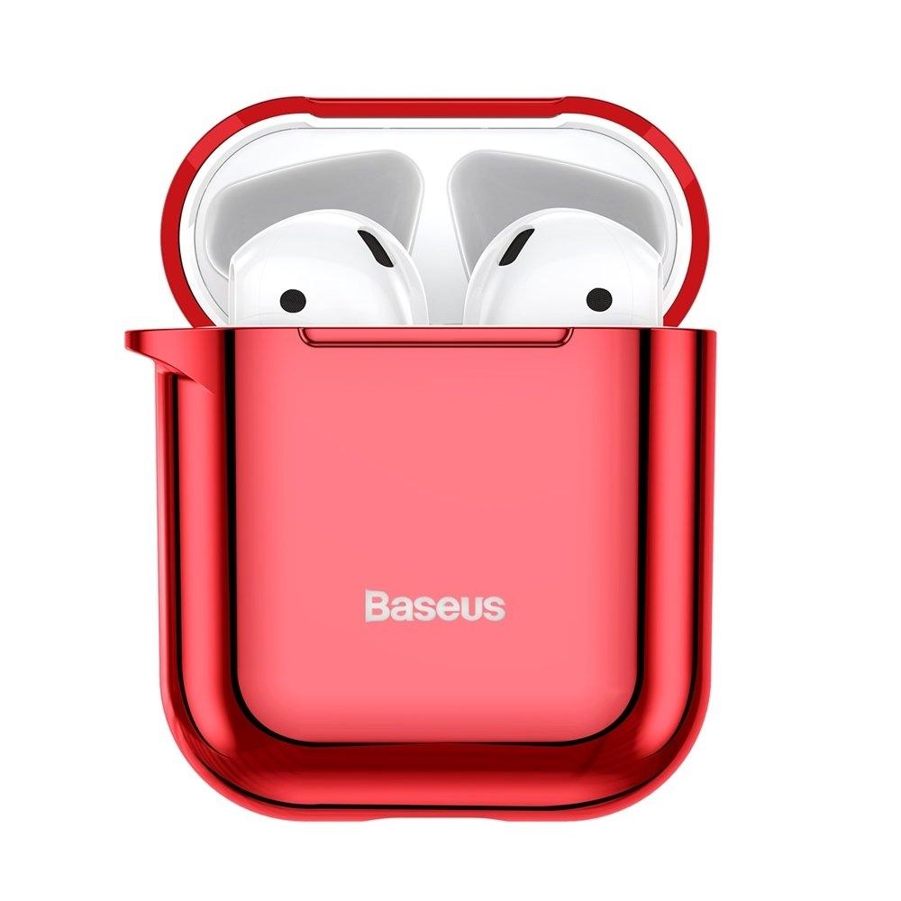 Baseus AirPods Silikon Schutztasche für Kopfhörer 2gen / 1gen rot