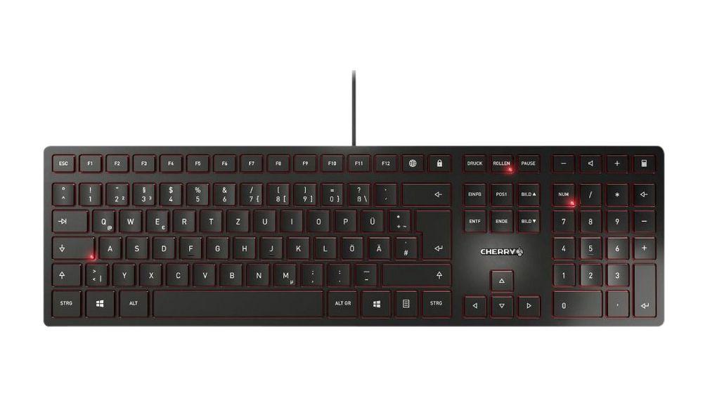CHERRY Tastatur - Modell: Cherry KC 6000 SLIM Schwarz Französisches Layout