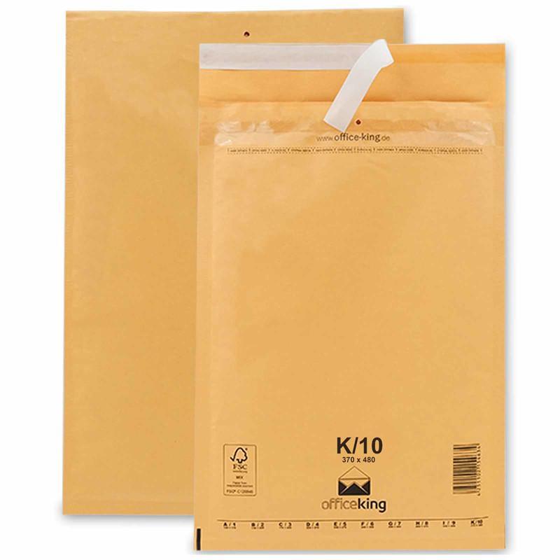 50 K10 Luftpolstertaschen Braun 370 x 480 mm