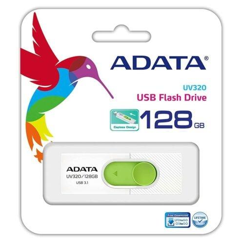 Adata UV320 USB Stick 3.0 - Auswahl: 128GB Weiß/Grün