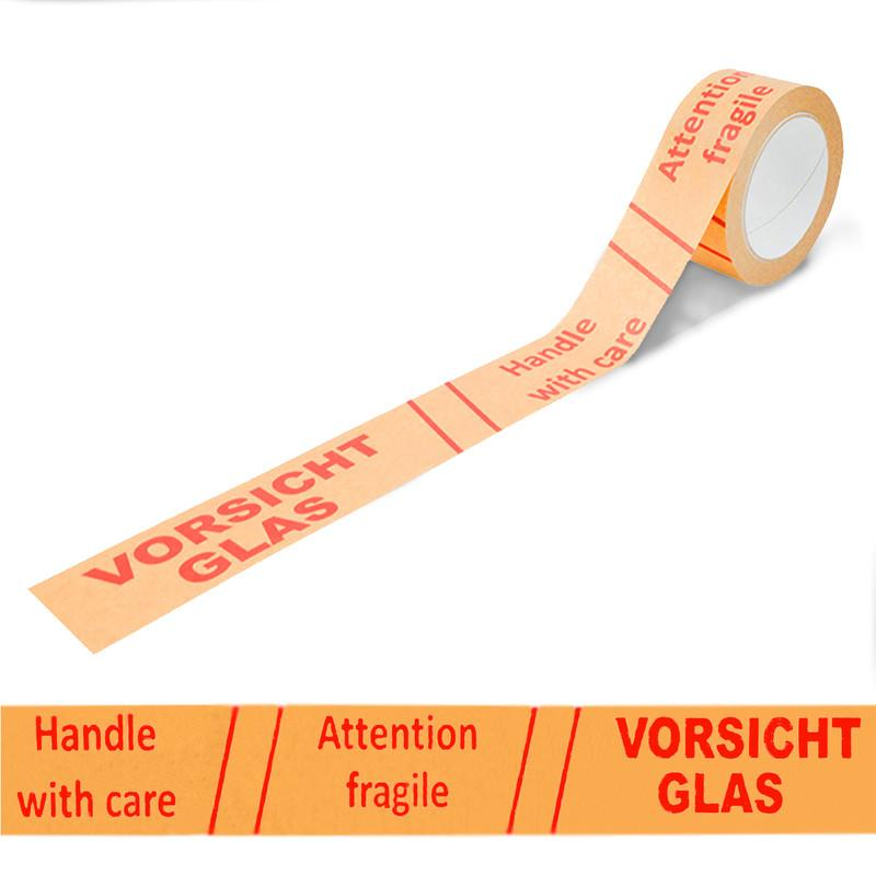 Papierklebeband Vorsicht Glas Handle with Care 50m