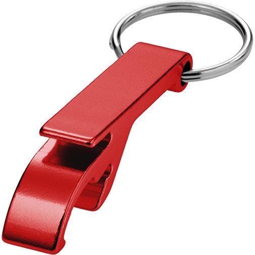 Toa Schlüsselanhänger mit Flaschen- und Dosenöffner rot