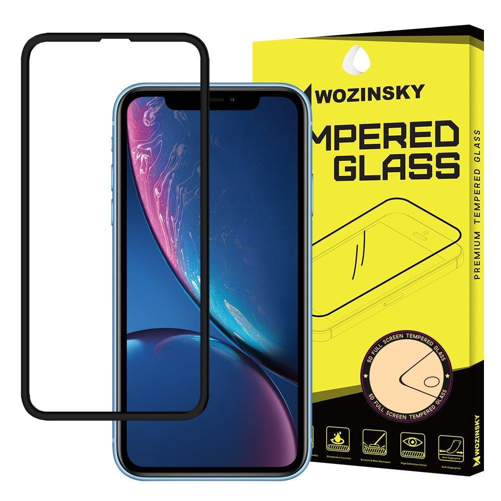 Wozinsky PRO+ Tempered Glass 5D Full Glue Super Robust Vollbild Hartglas mit Rahmen für iPhone XR / iPhone 11 schwarz