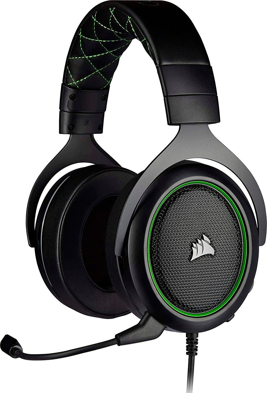 Corsair HS50 Pro Gaming Headset Schwarz Grün  Kopfbügelhörer Kabelgebunden Stereo