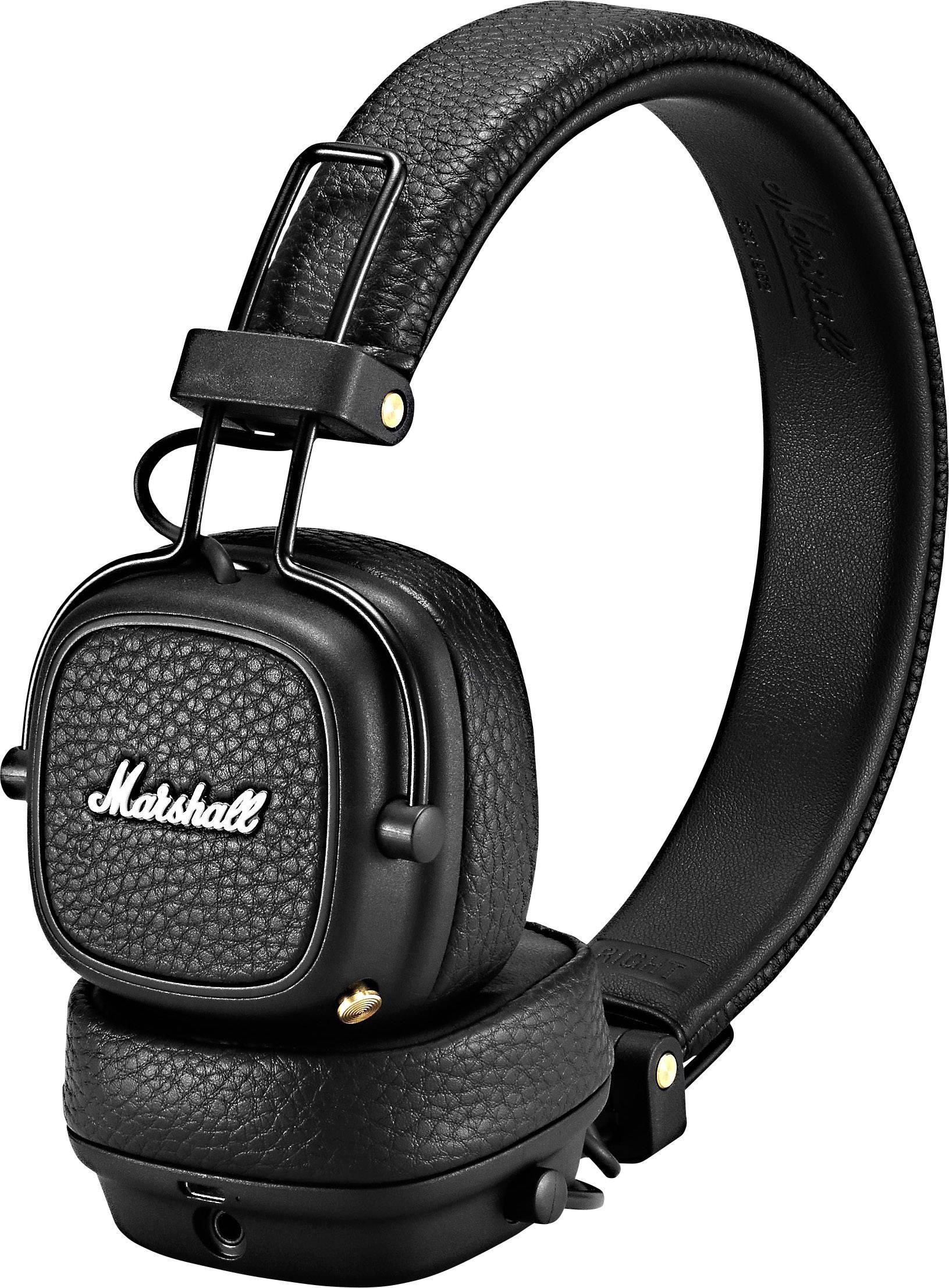 Marshall Major III Bluetooth Headset Faltbare Kopfhörer Schwarz Stereo
