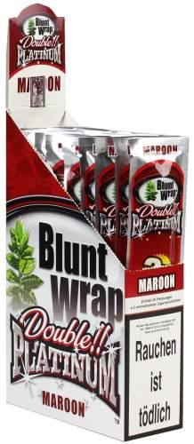 Blunt Wrap Double Platinum im 2er Pack, Maroon (Wet Cherry) 25er Display