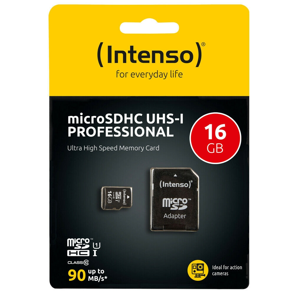 Intenso Micro SD Speicherkarte - Speicherkapazität: 16 GB / UHS-I Professional
