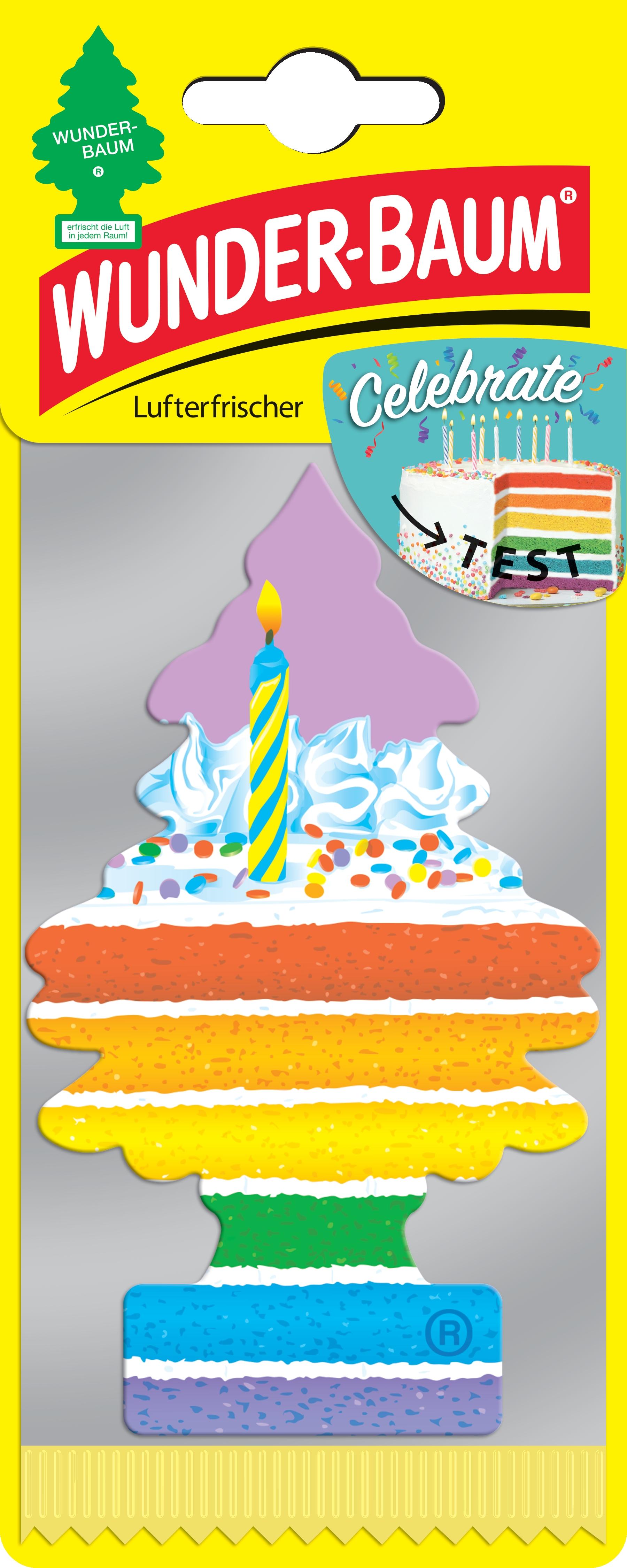 Wunderbaum Lufterfrischer Baum - Duft: Celebrate