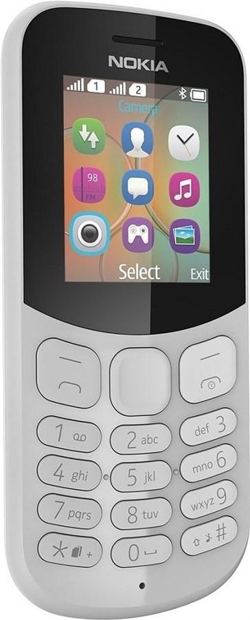 Nokia 130 Dual-SIM Mobiltelefon GSM ohne Simlock Grau A00028488