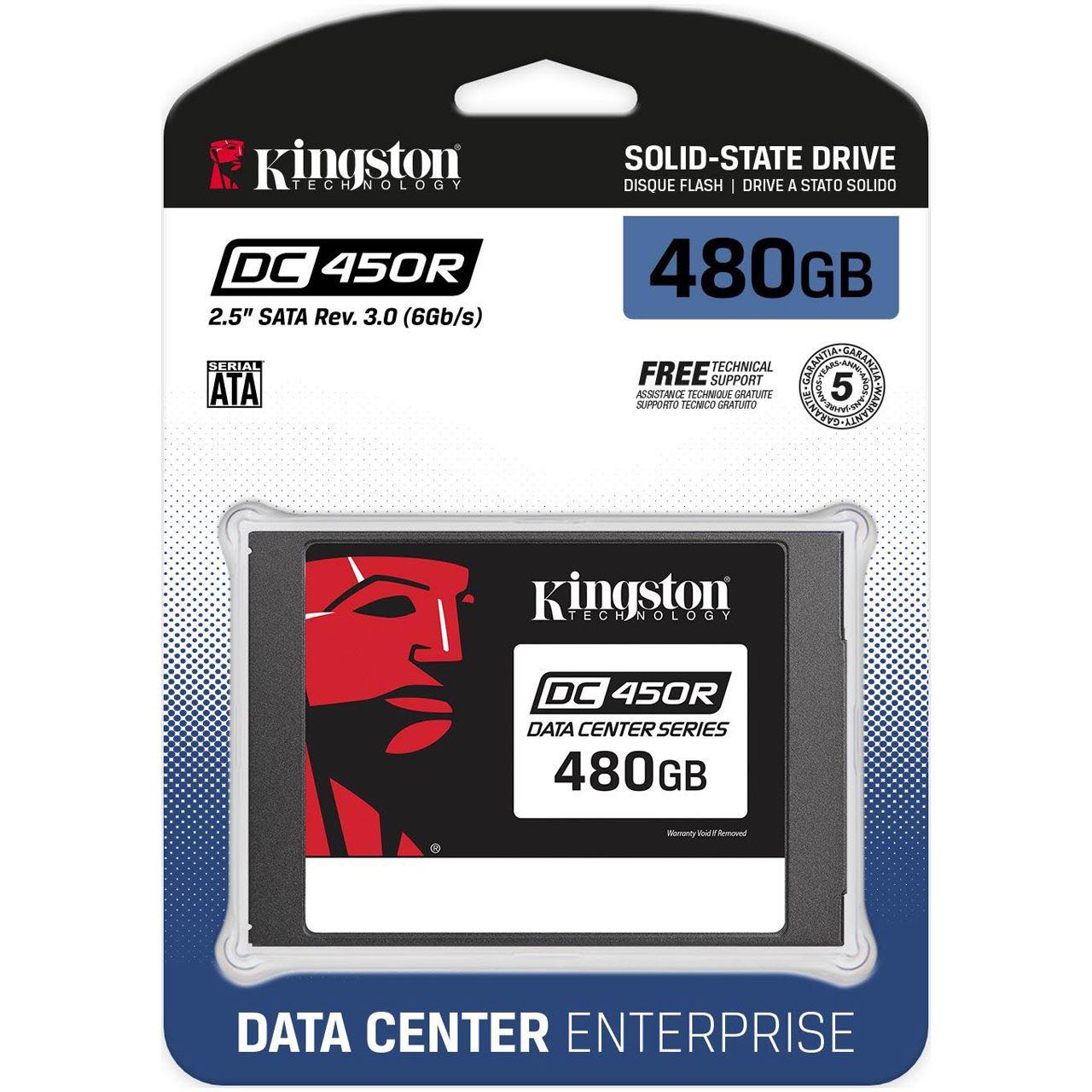 """Kingston DC450R Enterprise 480 GB SSD schwarz SATA 6Gb/s 2,5"""""""