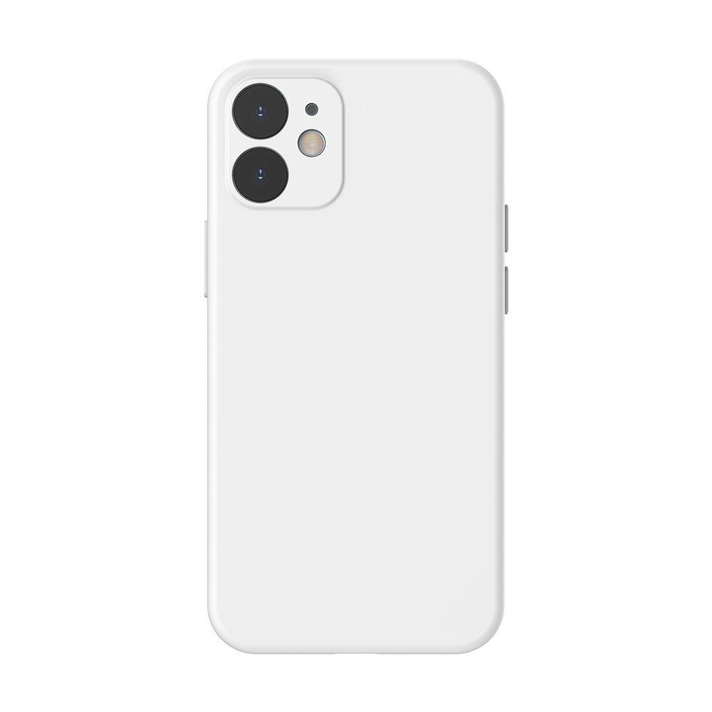 Baseus Liquid Silica Gel Case Flexibler handyhülle iPhone 12 mini elfenbeinweiß