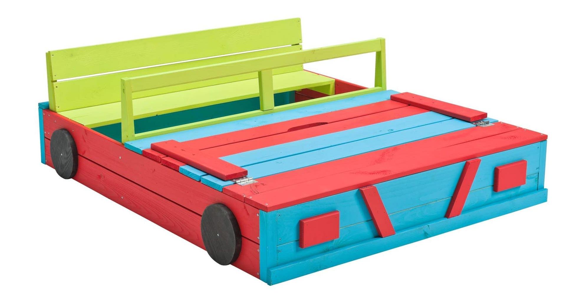 Swing King sandkasten Auto 120x100x20cm FSC-imprägniert mehrfarbig