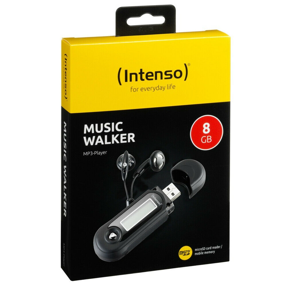 Intenso Music Walker MP3-Player 8 GB USB 2.0 Schwarz 8GB Batteriebetreib WMA MP3