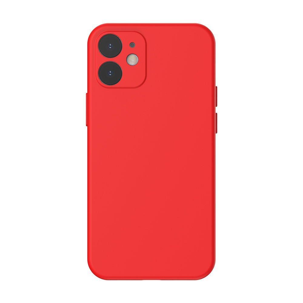 Baseus Liquid Silica Gel Case Flexibler handyhülle iPhone 12 mini Hellrot