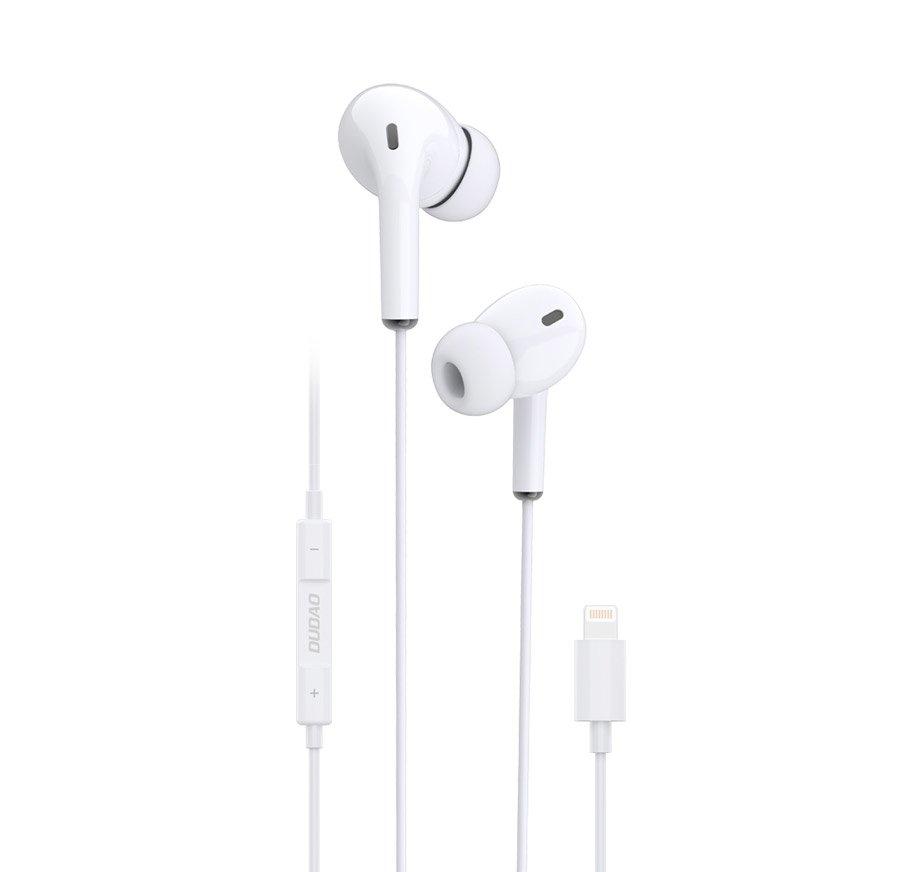 Kopfhörer Lightning Headset mit Fernbedienung weiß