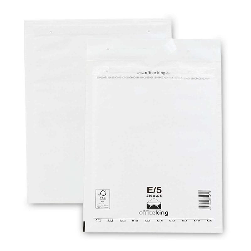 100 E5 Luftpolstertaschen Weiss 240 x 275 mm