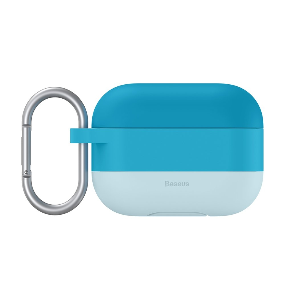 Baseus Silikon Schutztasche für Apple AirPods Pro + Anhänger blau