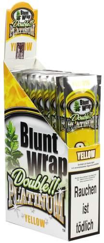 Blunt Wrap Double Platinum im 2er Pack, Yellow (Mello Mango) 25er Display