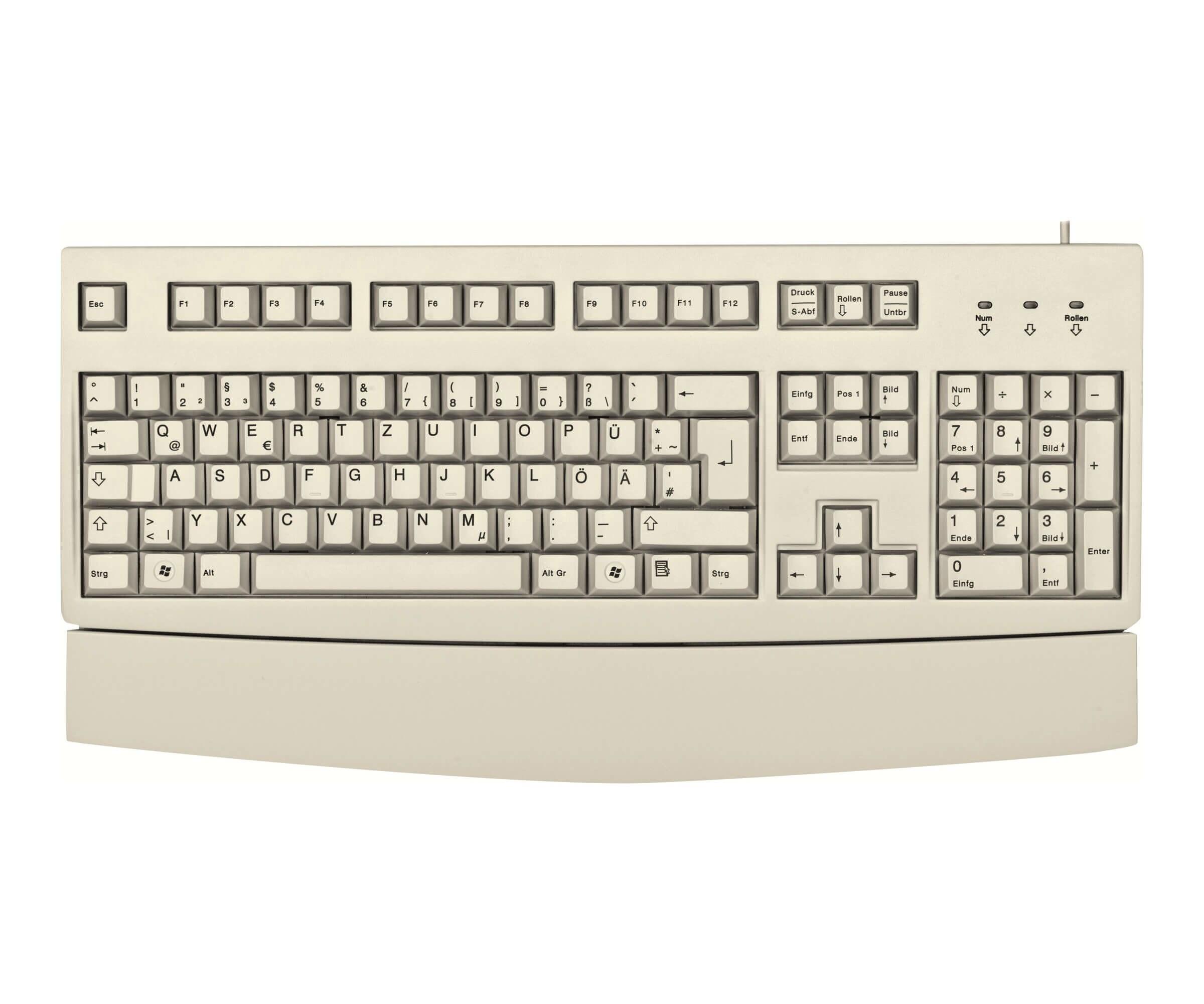 CHERRY Tastatur - Modell: Cherry G83-6260 Hellgrau