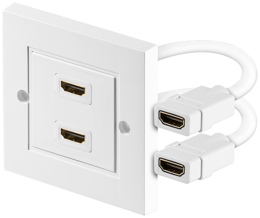 HDMI™ Wanddose 2x HDMI™-Buchse (Typ A) > 2x HDMI™-Buchse (Typ A)