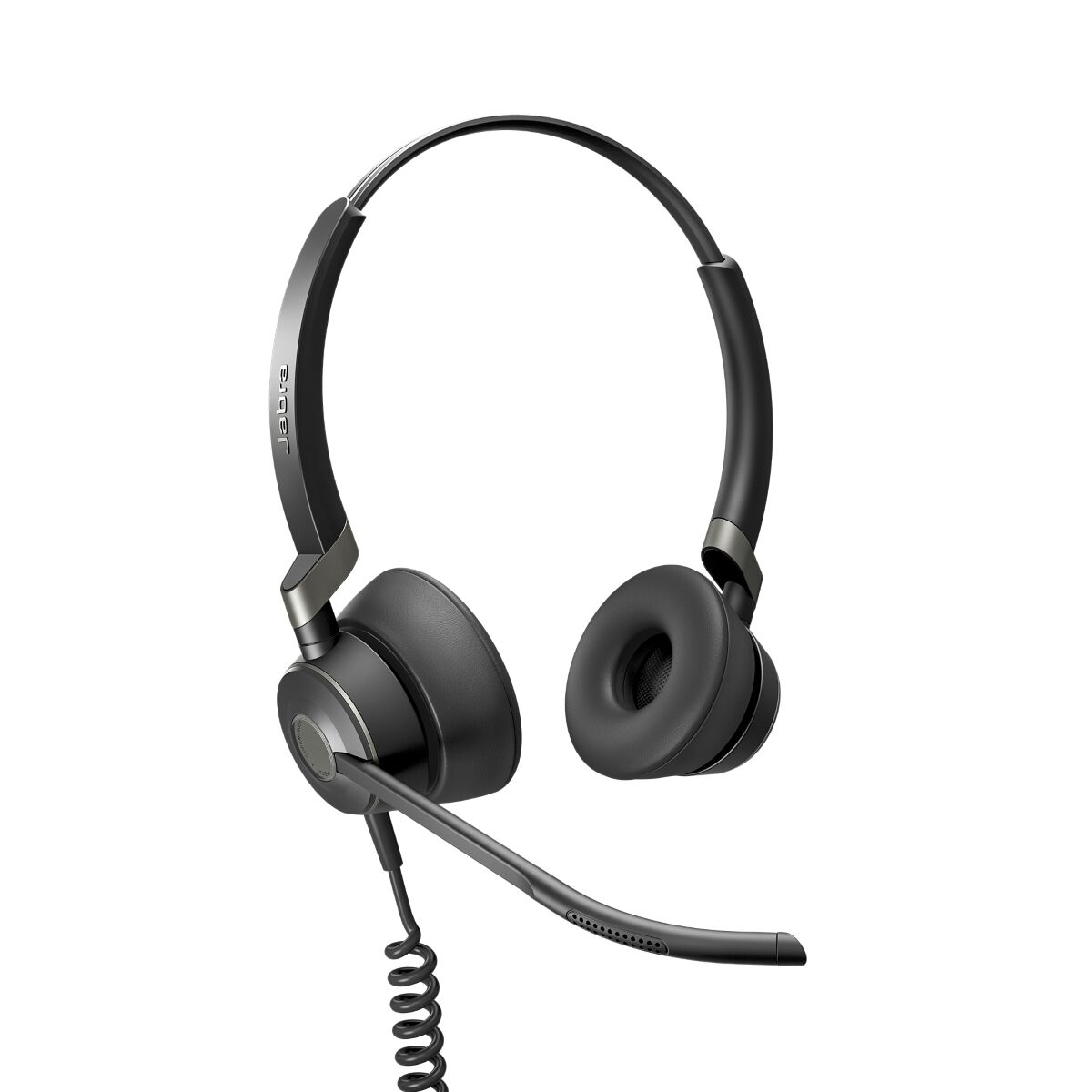 Jabra Engage 50 Stereo Headset Schwarz Kabelgebunden Spiralkabel Kopfbügelhörer