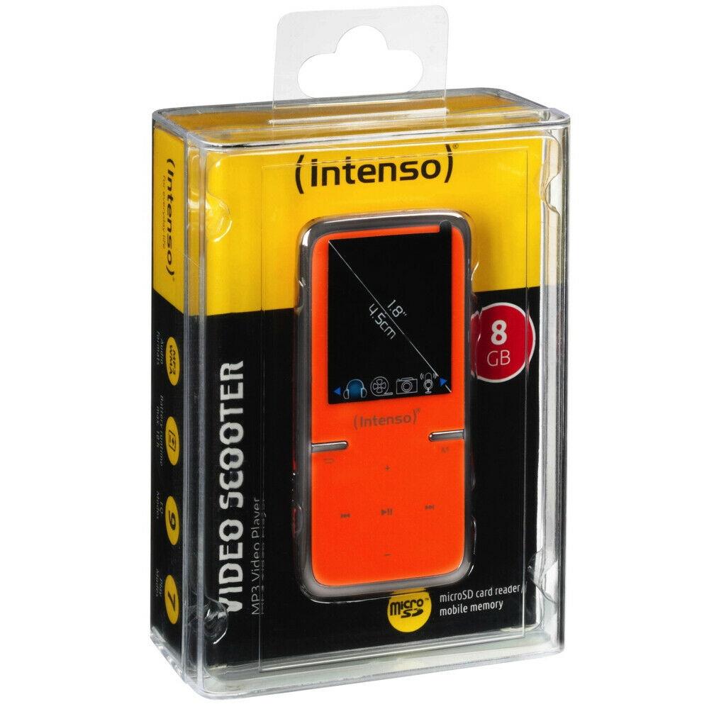 Intenso Video Scooter MP3-Player 8 GB USB 2.0 Orange Akkubetrieb Zubehörpaket