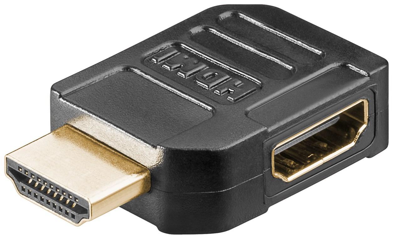 HDMI™ Adapter, vergoldet HDMI™-Buchse (Typ A) > HDMI™-Stecker (Typ A) 90°