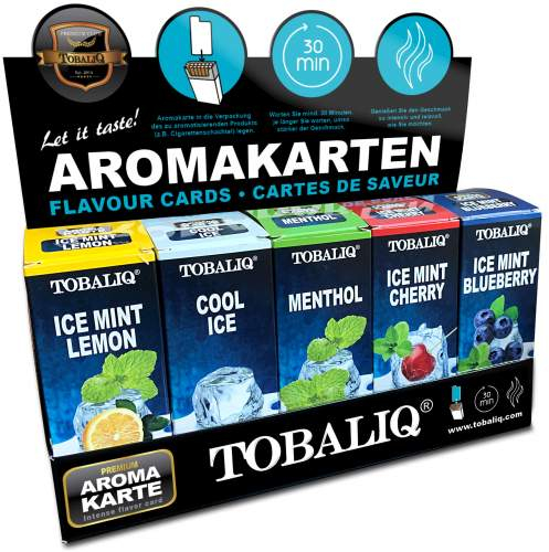 Aroma Cards/Aroma Karte Mix Display 5x25 st.Tobaliq im 125er T-Display