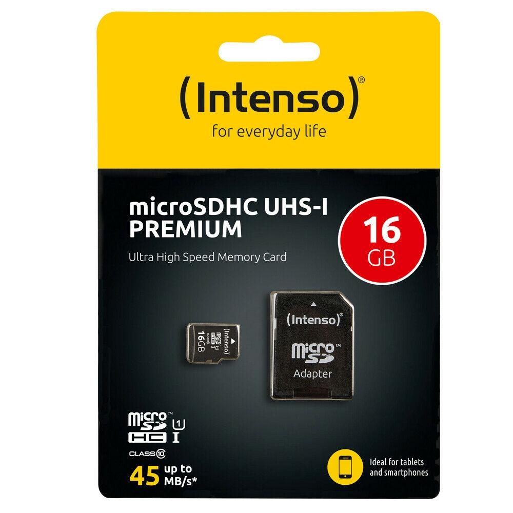 Intenso Micro SD Speicherkarte - Speicherkapazität: 16 GB / UHS-I Premium