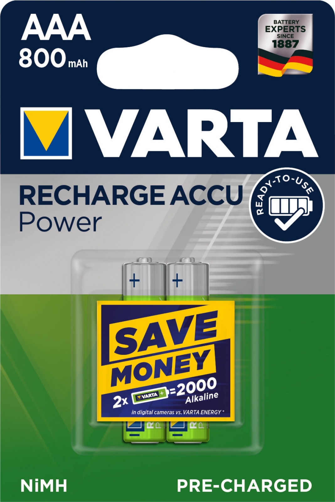 Varta Accu Power, Pre-charged, Retail Blister (2-Pack)