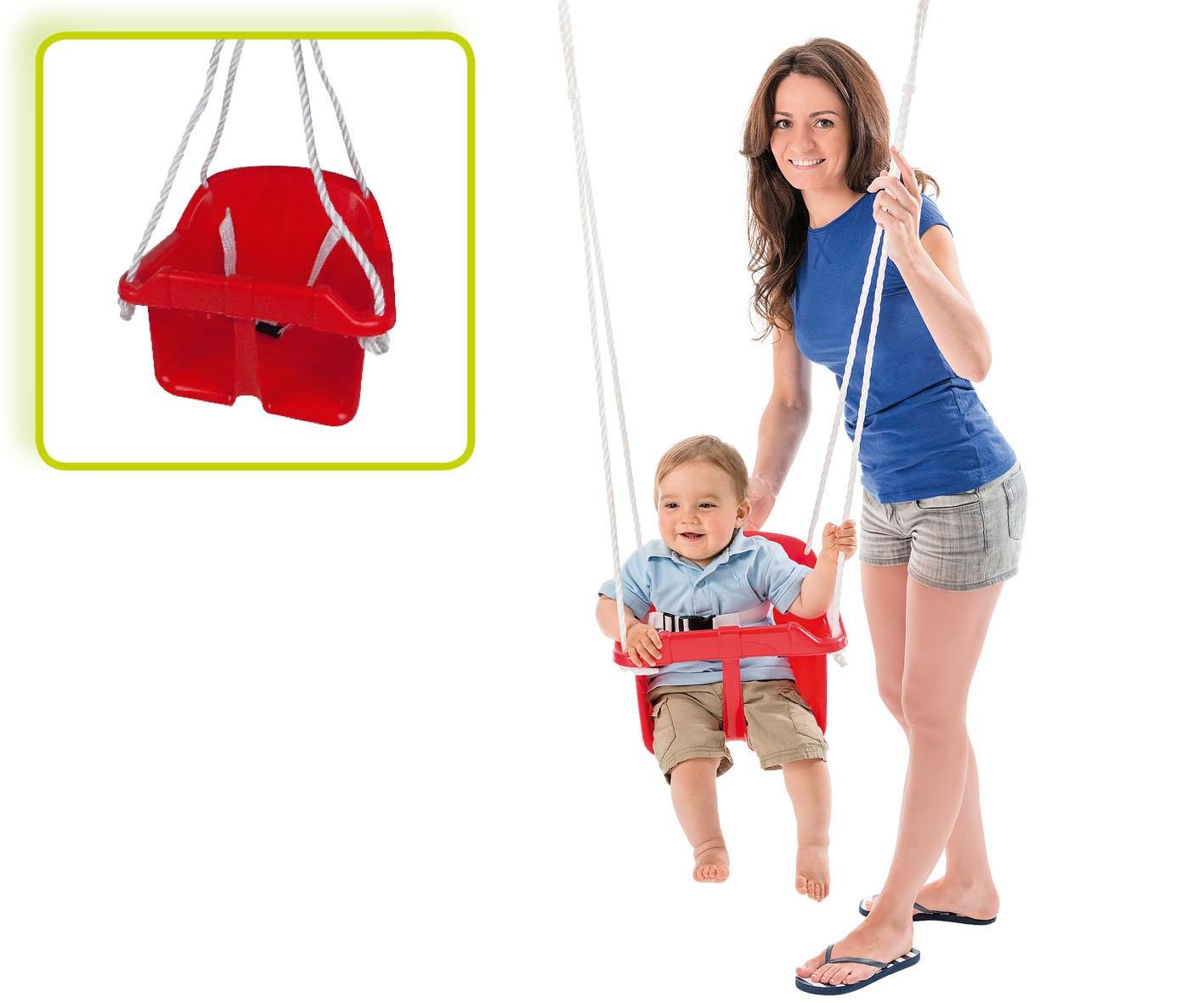 Happy People babyschaukelsitz mit Seil 31 cm rot