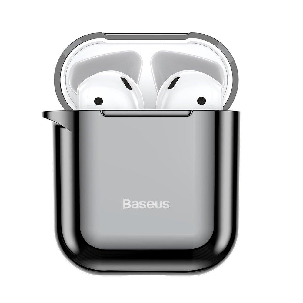 Baseus AirPods Silikon Schutztasche für Kopfhörer 2gen / 1gen schwarz