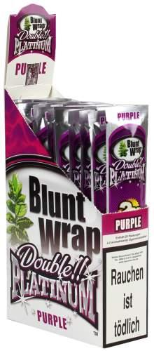 Blunt Wrap Double Platinum im 2er Pack, Purple 25er Display