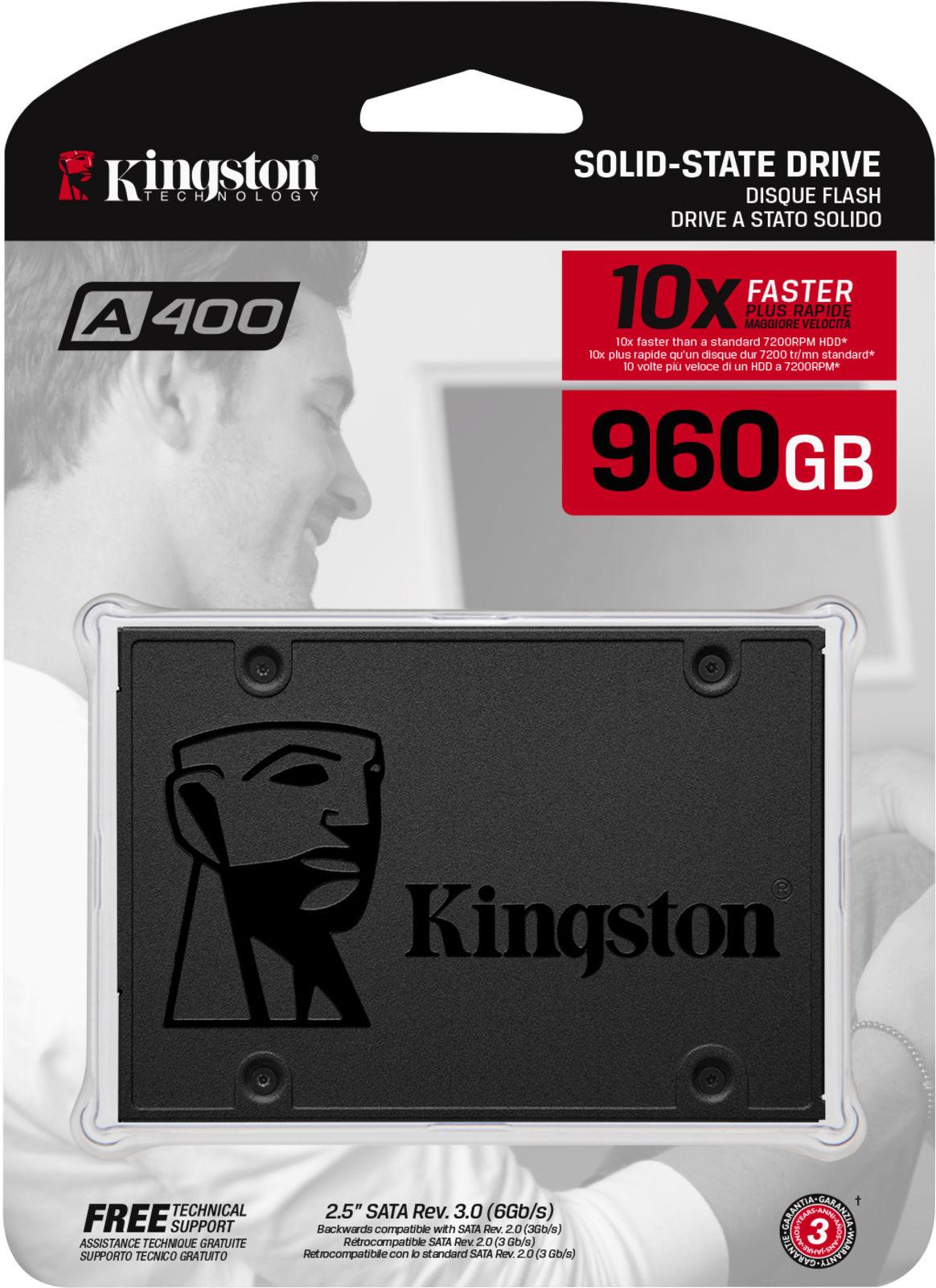 """Kingston A400 960 GB SSD SATA 6GB/s 2,5"""""""