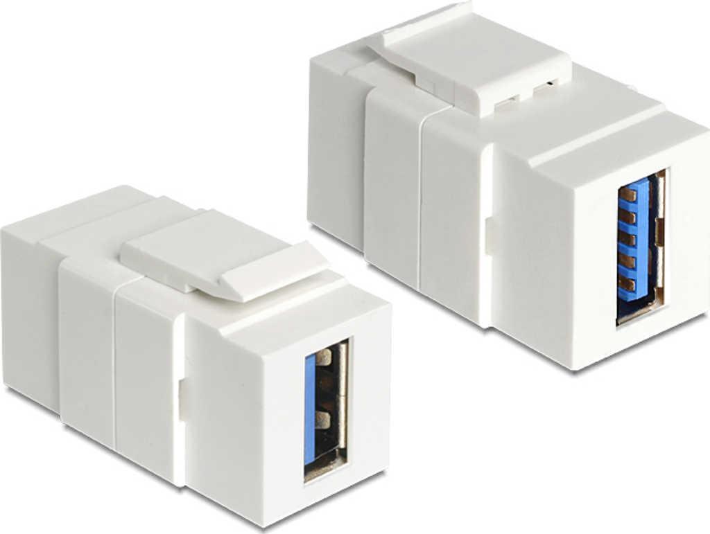 Keystone Modul USB 3,0 A Buchse > USB 3,0 A Buchse, Keystone-Modul