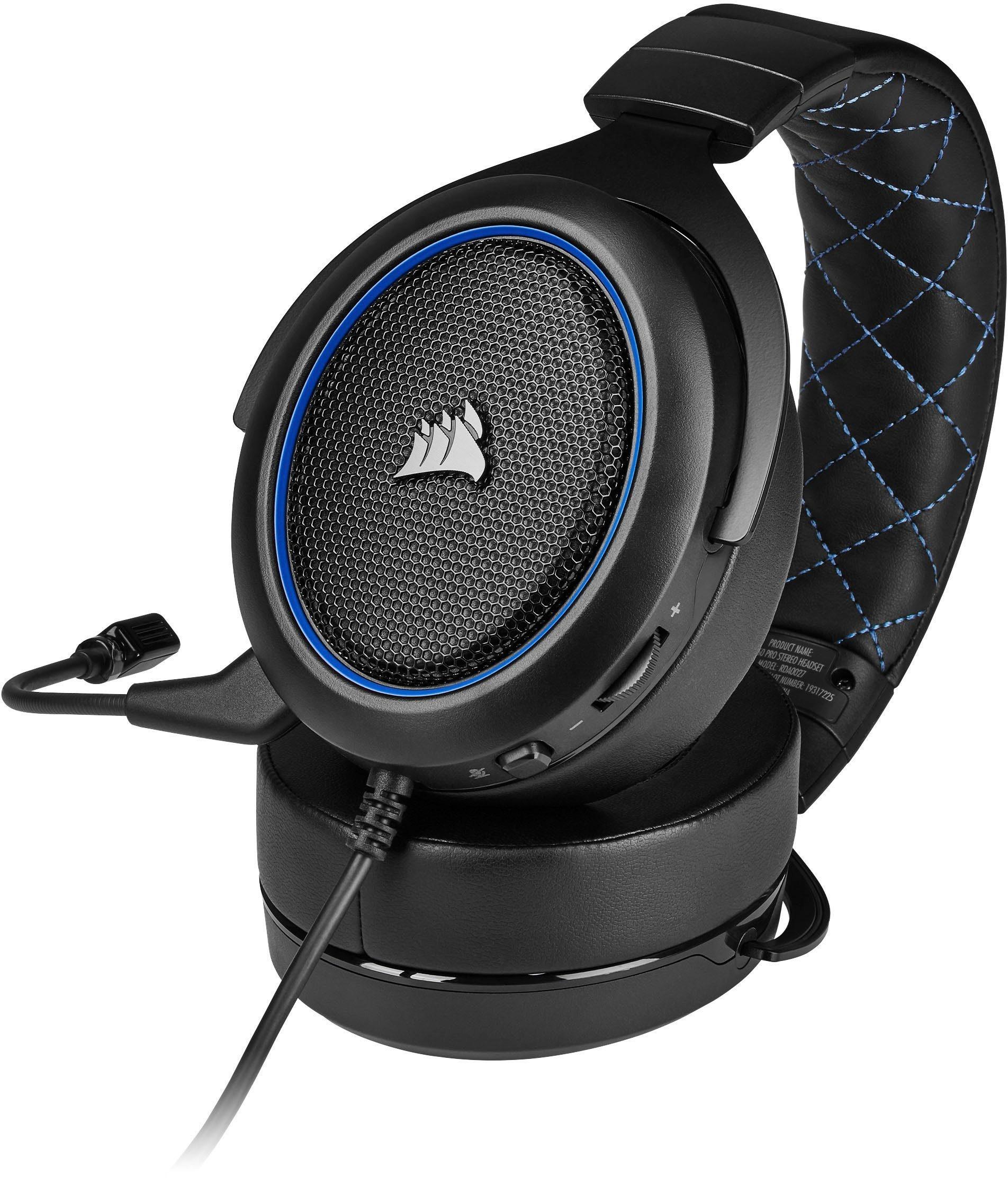 Corsair HS50 Pro Gaming Headset Schwarz Blau Kopfbügelhörer Kabelgebunden Stereo