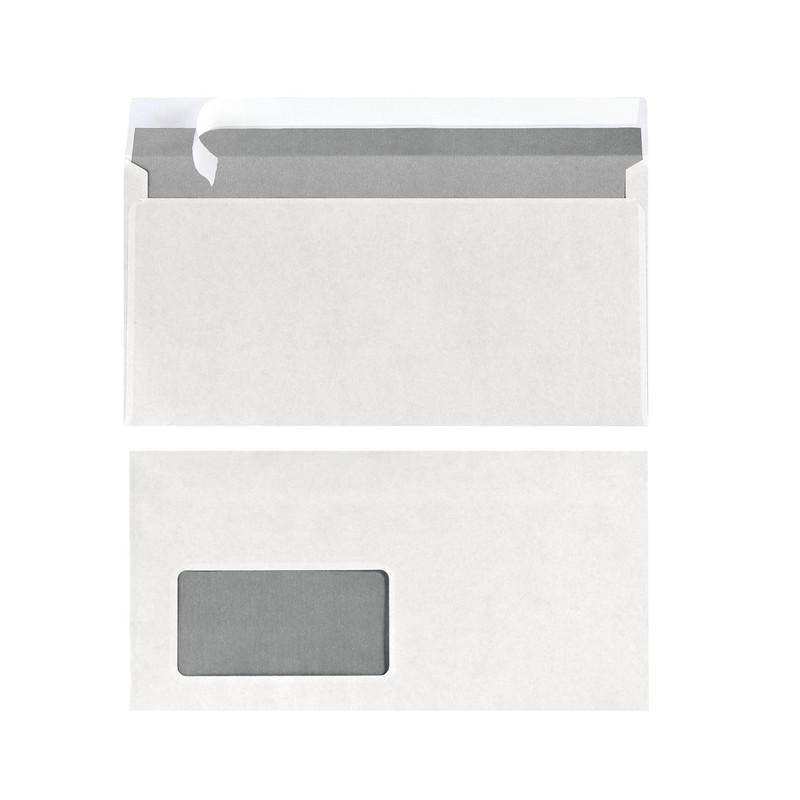 25x Herlitz Briefumschlag DIN lang weiß mit Fenster