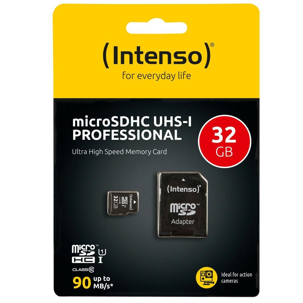 Intenso Micro SD Speicherkarte - Speicherkapazität: 32 GB / UHS-I Professional