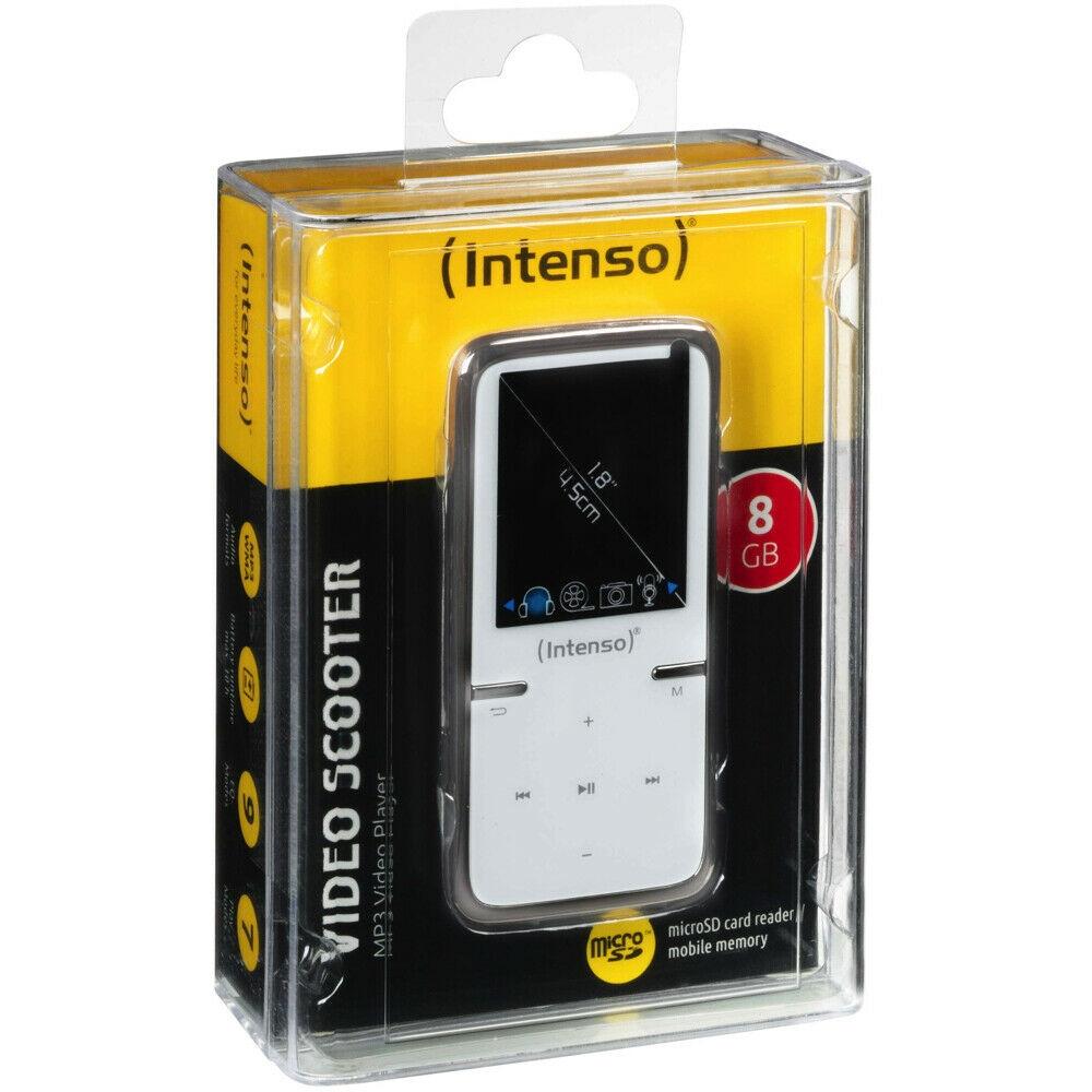 Intenso Video Scooter MP3-Player 8 GB USB 2.0 Weiß Akkubetrieb Zubehörpaket