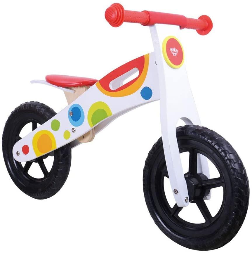 Tooky Toy loopfiets Tooky Toy Junior Weiß/Multicolor