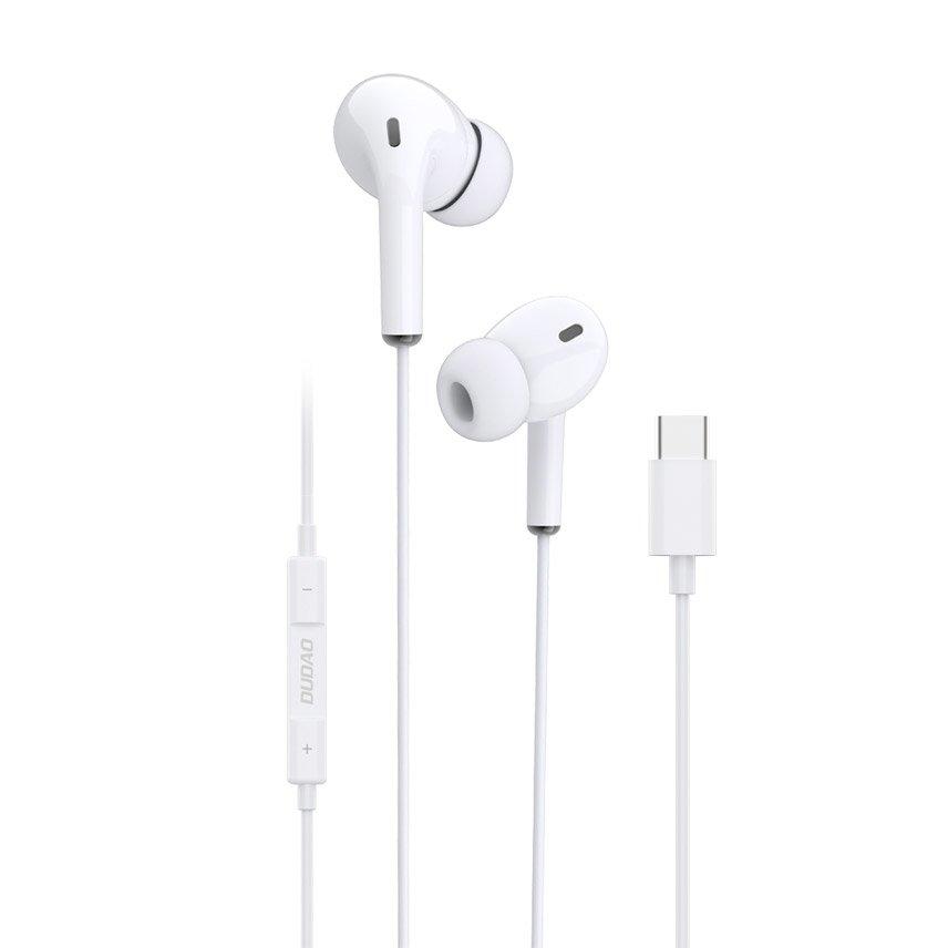 DUDAO Kopfhörer USB Typ C Headset mit Fernbedienung weiß